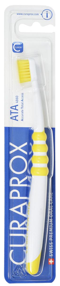 Curaprox Зубная щетка подростковая, цвет: желтыйATA_желтая, желтая щетина