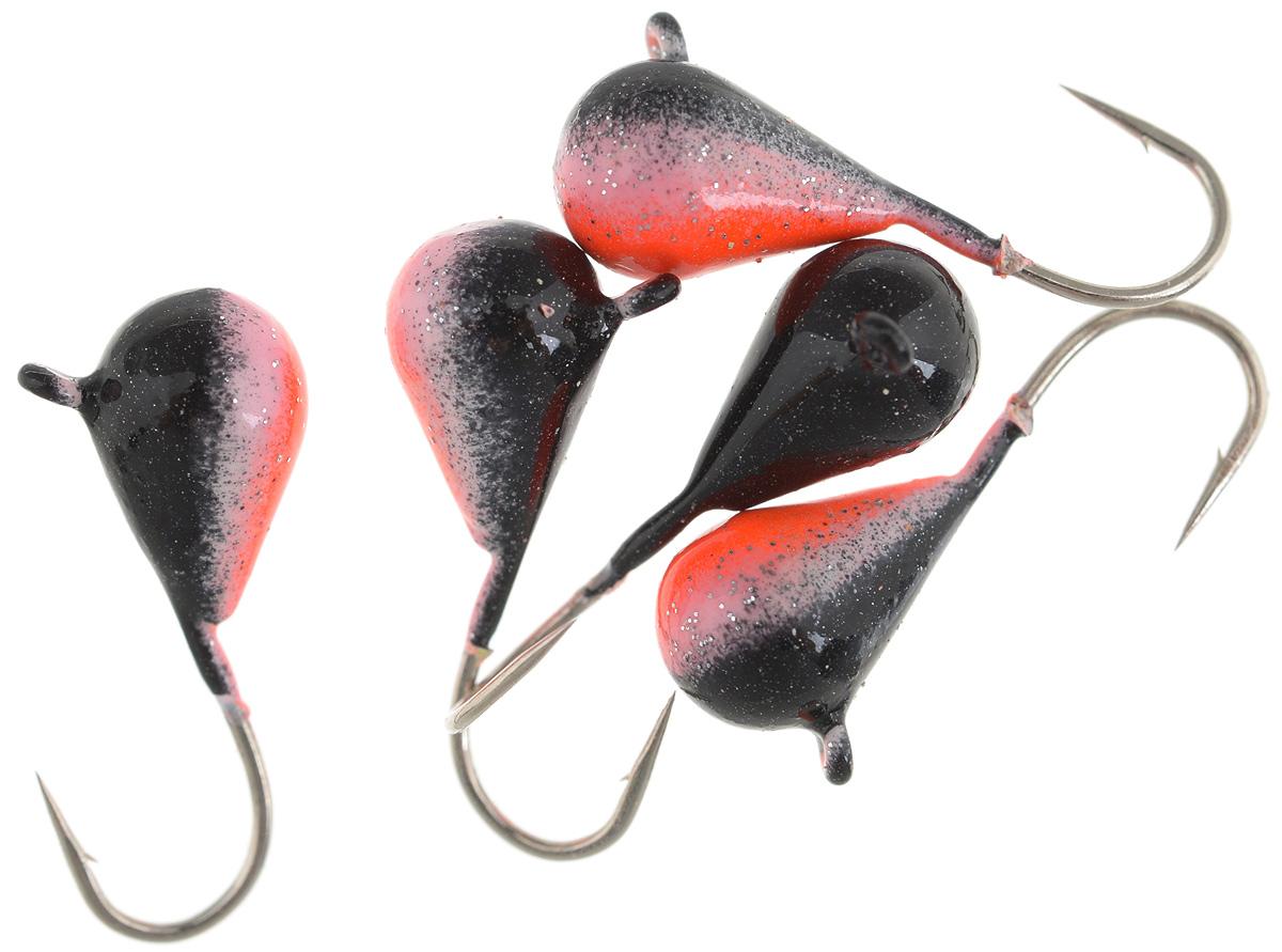 Мормышка вольфрамовая Asseri Капля, с ушком, цвет: черный, оранжевый, диаметр 5 мм, 1,54 г, 5 штCK5-BPRМормышка Asseri Капля изготовлена из вольфрамового сплава и оснащена крючком. Она небольшого размера и окрашена так, чтобы издалека привлечь рыбу. Главное достоинство такой мормышки - большой вес при малом объеме. Эта особенность дает большие преимущества при ловле, так как позволяет быстро погрузить приманку на требуемую глубину и лучше чувствовать игру мормышки.