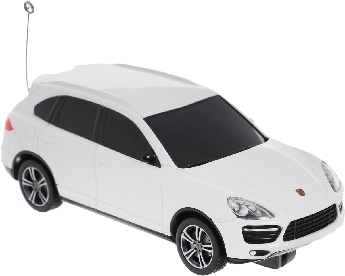 Rastar Радиоуправляемая модель Porsche Cayenne Turbo цвет белый масштаб 1/3250300-RASTAR_белыйРадиоуправляемая модель Rastar Porsche Cayenne Turbo является точной копией настоящего автомобиля в масштабе 1/32. Управление автомобилем происходит с помощью удобного пульта. Машина двигается вперед и назад, поворачивает направо, налево и останавливается. Колеса игрушки прорезинены и обеспечивают плавный ход, машинка не портит напольное покрытие. Пульт управления работает на частоте 27 MHz. Радиоуправляемые игрушки способствуют развитию координации движений, моторики и ловкости. Ваш ребенок часами будет играть с моделью, придумывая различные истории и устраивая соревнования. Порадуйте его таким замечательным подарком! Машина работает от 3 батареек напряжением 1,5V типа АА (не входят в комплект). Пульт управления работает от 2 батареек напряжением 1,5V типа АА (не входят в комплект).