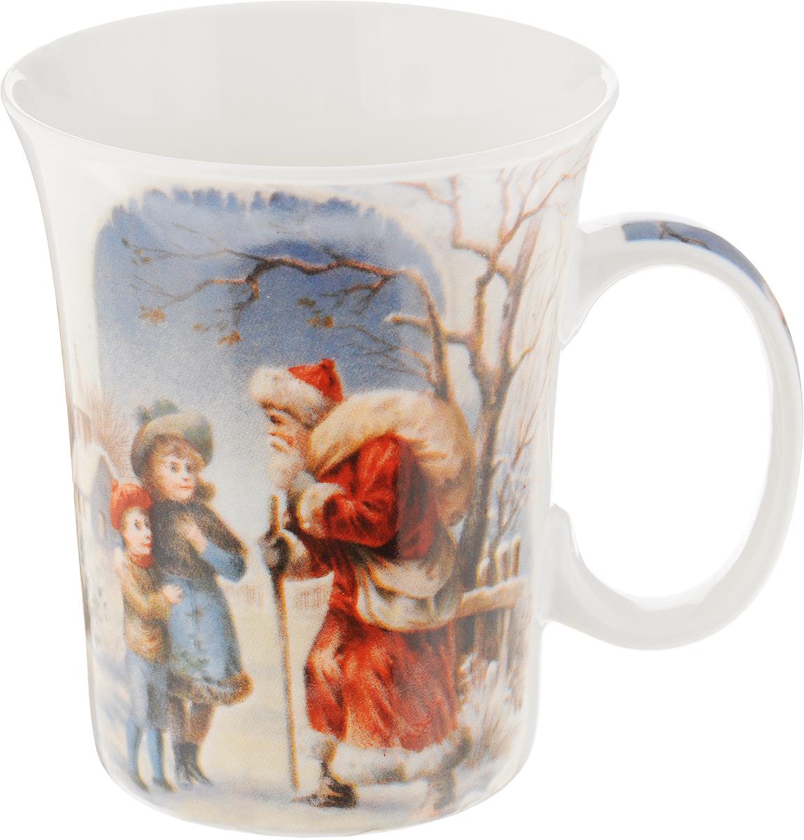 Кружка Lillo Дед мороз и дети , цвет: красный, голубой, белый, 350 мл216041_красный, голубой, белыйКружка Lillo Дед Мороз и дети выполнена из высококачественной керамики с глазурованным покрытием. С внешней стороны изделие декорировано красивым новогодним рисунком. Такая кружка станет приятным подарком к Новому Году и согреет вас холодными зимними вечерами. Диаметр (по верхнему краю): 8,5 см. Высота кружки: 10,5 см.