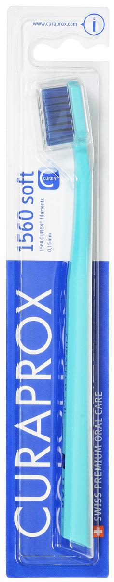 Curaprox Зубная щетка Soft, цвет: бирюзовый, диаметр 0,15 ммCS1560_бирюзовый