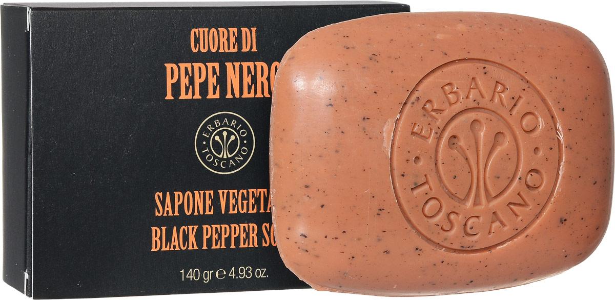 Erbario Toscano Растительное мыло Черный перец 140 гPSA140Удовольствие от ежедневного использования мыла Черный Перец достигается благодаря насыщенному аромату, а также его особенным увлажняющим и смягчающим свойствам. Мыло деликатно очищает, увлажняет кожу и придает ей мягкость, придавая приятный свежее-пряный аромат.