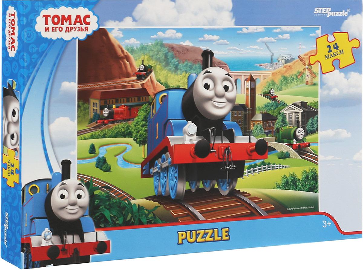 Step Puzzle Пазл для малышей Томас и его друзья 9003290032Пазл Step Puzzle Томас и его друзья придется по душе вам и вашему ребенку. История рассказывает о приключениях паровозиков, живущих на вымышленном острове Содор. Пазл включает в себя 24 крупных элемента, собрав которые, вы получите картинку с изображением сюжета из мультфильма. Сегодня собирание пазлов стало особенно популярным, главным образом, благодаря своей многообразной тематике, способной удовлетворить самый взыскательный вкус. Для детей это не только интересно, но и полезно. Собирание пазла развивает мелкую моторику ребенка, тренирует наблюдательность, логическое мышление, знакомит с окружающим миром, цветами и формами. Компания Step Puzzle гарантирует высокое качество пазла и точность подгонки.