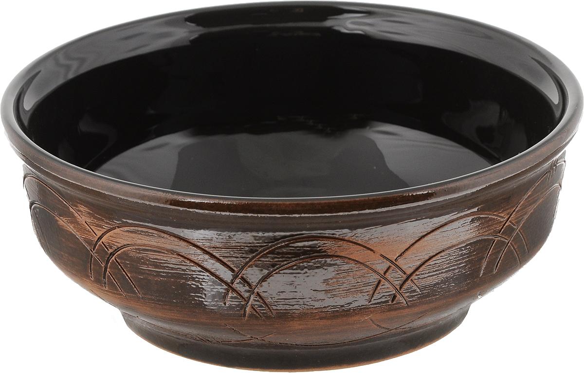Салатник Борисовская керамика Старина, цвет: коричневый, черный, 500 млСТР00000470_коричневый, черныйСалатник Борисовская керамика Старина выполнен из высококачественной керамики. Он придется по вкусу каждому и порадует вас и ваших близких. Салатник Борисовская керамика Старина идеально подойдет для сервировки стола и станет отличным подарком к любому празднику. Можно использовать в духовке и микроволновой печи. Диаметр (по верхнему краю): 18 см. Высота: 7 см. Объем: 500 мл.