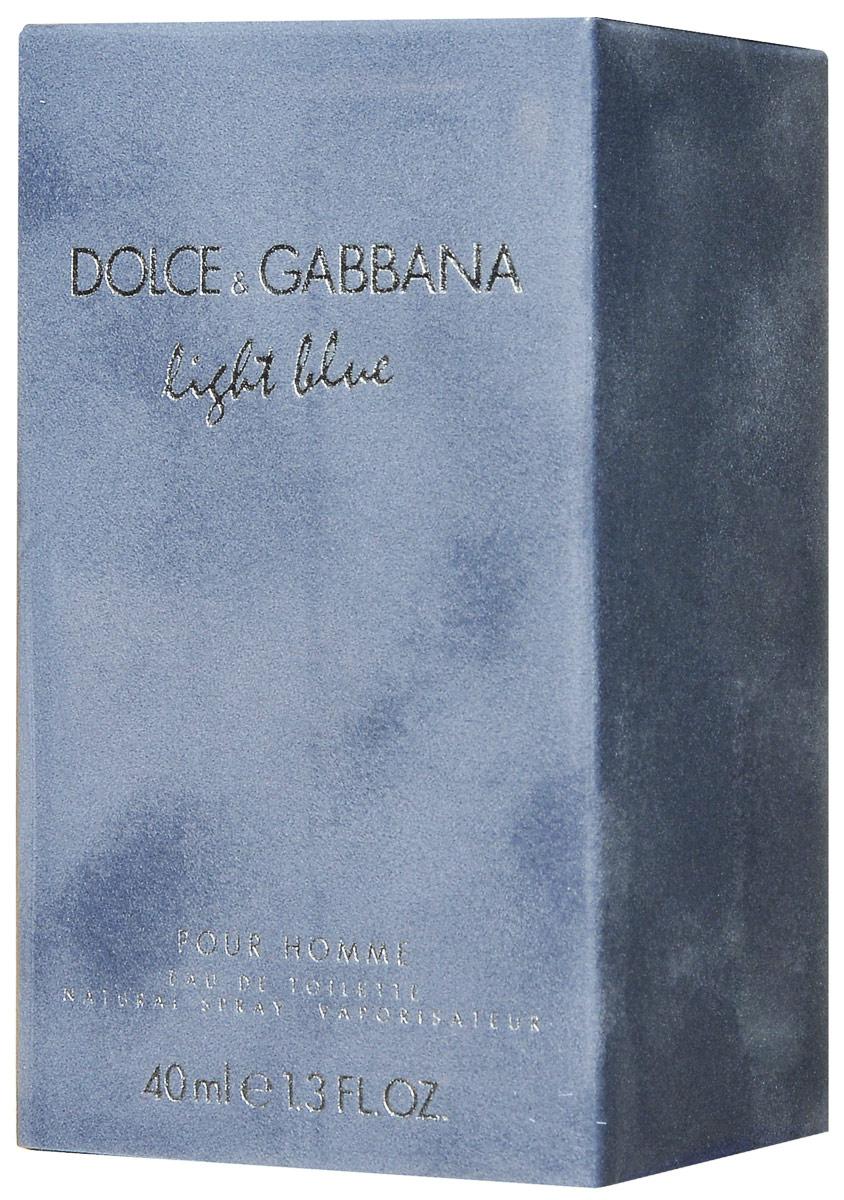 Dolce&Gabbana Туалетная вода Light Blue Pour Homme, мужская, 40 мл737052079103