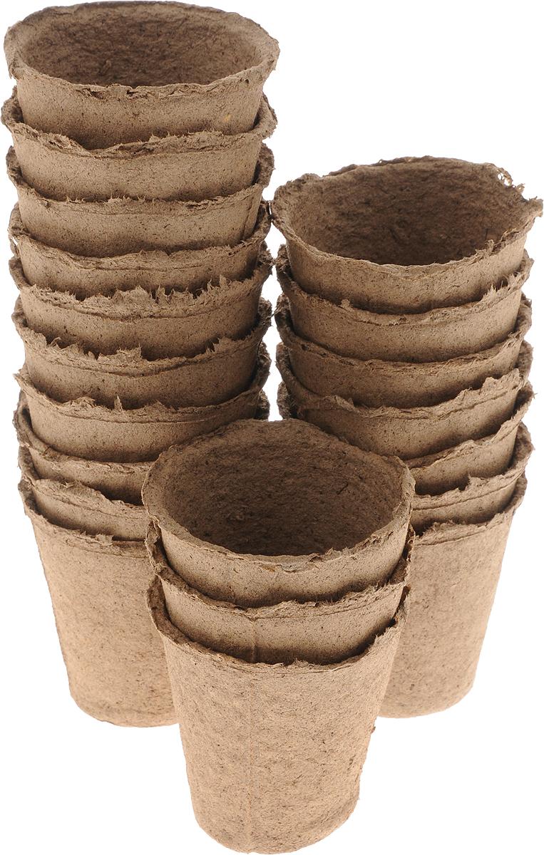 Торфяной горшочек Добрая сила, для выращивания рассады, 8 х 8 х 8,5 см, 20 штDS44140071Горшочек Добрая сила является органическим продуктом и представляет собой полую емкость, стенки которого выполнены из торфо-древесной массы с добавлением мела. Рекомендуется для лучшего прорастания накрыть горшочки стеклом или пленкой. Выращенную рассаду необходимо высаживать в грунт вместе с горшком. В комплекте 20 горшочков. Состав: торф верховой 70%, древесная масса 30%, мел, pH не менее 5,5. Размер горшка: 8 х 8 х 8,5 см.