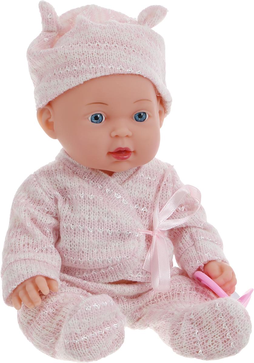 Карапуз Пупс озвученный Hello Kitty цвет одежды розовый белый255-E-RU_цвет одежды розовыйПупс озвученный Карапуз Hello Kitty выглядит совсем как настоящий ребеночек! Куколка одета в милый костюм и шапочку розового цвета в белую полоску. Личико пупса тщательно проработано и поражает своей реалистичностью. Ножки и ручки у малыша подвижны. Милый карапуз умеет петь песенку Про Лошадку и рассказывать 3 стихотворения Агнии Борто, стоит только нажать ему на животик! Рекомендуется докупить 3 батарейки напряжением 1,5V типа AG13/LR44 (товар комплектуется демонстрационными).