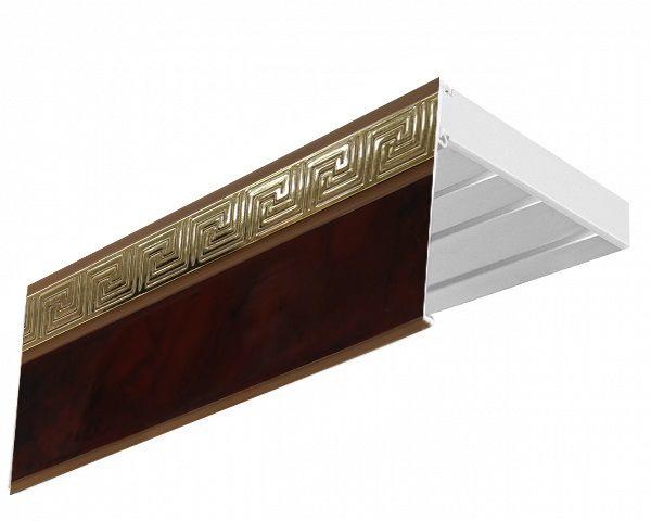 Багет Эскар Версаче, цвет: махагон, 5 см х 350 см29509350Багет для карниза крепится к карнизным шинам. Благодаря багетному карнизу, от взора скрывается верхняя часть штор (шторная лента, крючки), тем самым придавая окну и интерьеру в целом изысканный вид и шарм. Вы можете выбрать багетные карнизы для штор среди широкого ассортимента багета Российского производства. У нас множество идей использования багета для Вашего интерьера, которые мы готовы воплотить! Грамотно подобранное оформление – ключ к превосходному результату!!!