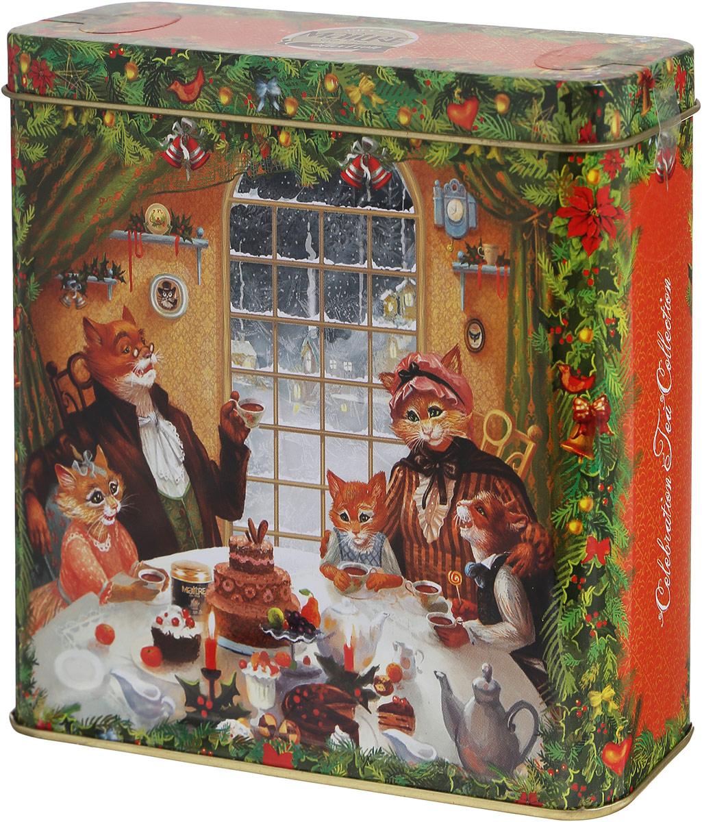 Maitre чай зеленый Новогодние сюжеты, 90 гбаж038_цвет коробки оранжевыйЗеленый чай Maitre Новогодние сюжеты - зеленый байховый китайский листовой чай с добавками растительного сырья. Способ приготовления: положите в прогретый чайник чай из расчета 1 чайная ложка на 200 мл и залейте кипятком. Настаивайте 4-5 минут.