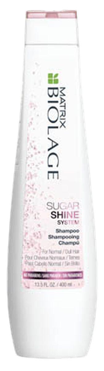 Matrix Biolage Sugar Shine Шампунь для придания блеска тусклым волосам, 250 млE1703700Под воздействием окружающей среды, волосы тускнеют, теряют блеск. Шампунь Biolage SUGARSHINE (Шугаршайн) бережно очищает волосы от загрязнений из-за которых они выглядят тусклыми, питает и придаёт глянцевый блеск.
