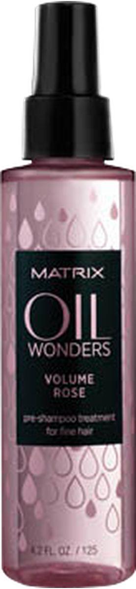 Matrix Oil Wonders Volume Rose Легкий пре-шампунь для ежедневного ухода, 125 млP1191100Глубокий еженедельный уход Oil Wonders Volume Rose (ОИЛ ВАНДЕРС ВОЛЬЮМ РОУЗ) для использования перед применением шампуня ОИЛ ВАНДЕРС ВОЛЬЮМ РОУЗ обеспечивает направленное питание поврежденных участков волос для помощи в сокращении их ломкости.