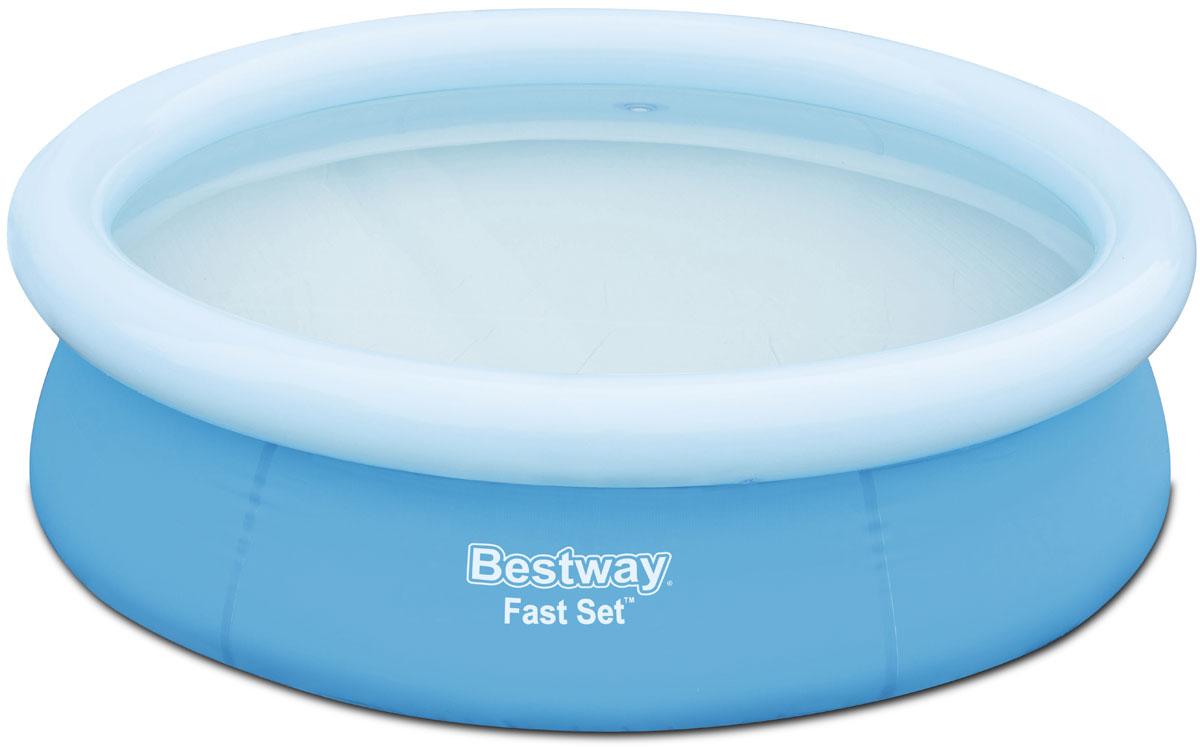 Bestway Бассейн с надувным бортом57252Надувной бассейн изготовлен из полимерных материалов. Не заполняйте бассейн водой больше чем на 80%. Выполнен из высококачественного трехслойного ПВХ: два слоя плотного винила и один - полиэстер для особой прочности. Чаша поддерживается надувным кольцом. Для установки бассейна выберите ровную поверхность, надуйте верхнее кольцо, наполните бассейн водой и наслаждайтесь купанием. Размер: 1,98 х 0,51 м. Объем: 1126 л.