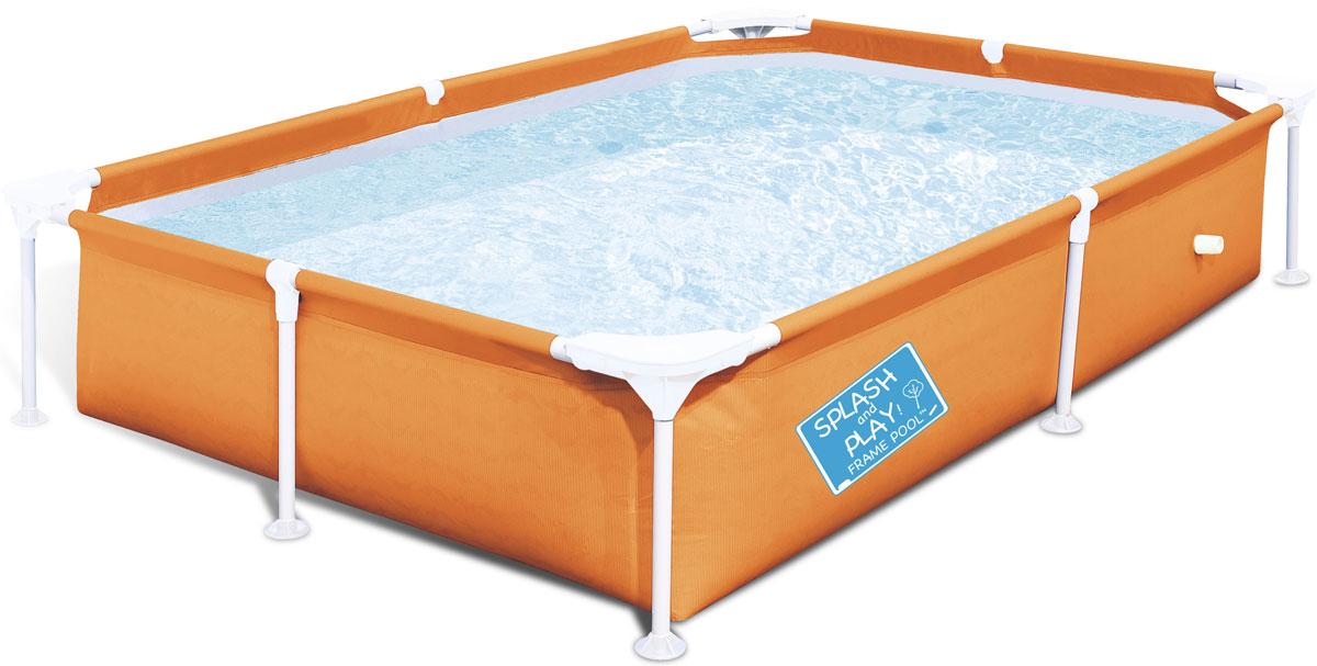Bestway Бассейн каркасный, 2,21 м х 1,5 м х 43 см56430Бассейн каркасный, детский. Размер 221х150х43см, объем 1200 л. Выполнен из высококачественного трехслойного ПВХ: два слоя плотного винила и один - полиэстер для особой прочности. Сливной клапан можно присоединить садовый шланг, для удобного слива воды. Легко складывается для межсезонного хранения.