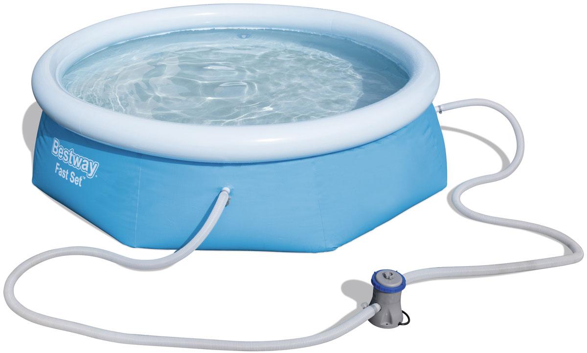 Бассейн с надувным бортом с фильтр-насосом Bestway57268