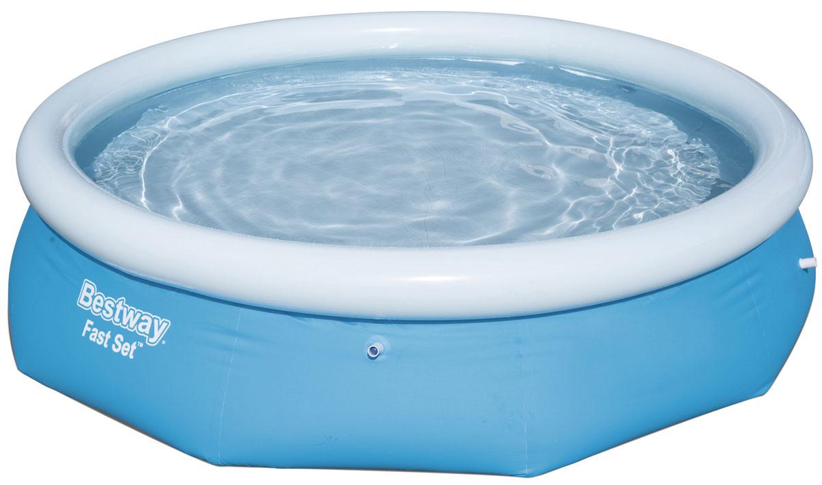 Bestway Бассейн с надувным бортом57266Бассейн надувной. Выполнен из высококачественного трехслойного ПВХ: два слоя плотного винила и один - полиэстер для особой прочности. Чаша поддерживается надувным кольцом. Для установки бассейна выберите ровную поверхность, надуйте верхнее кольцо, наполните бассейн водой и наслаждайтесь купанием. Не заполняйте бассейн водой больше чем на 80%. Размер: 305 х 76 см. Объем: 3638 л.