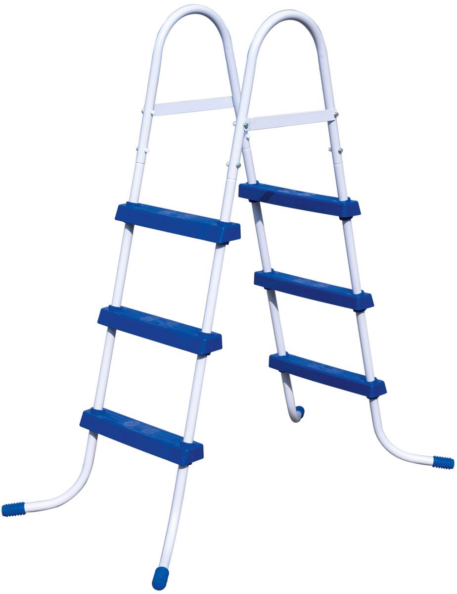 Лестница для бассейна Bestway, высота 91 см58334Лестница для бассейна Bestway выполнена из высококачественного металла, устойчивого к ржавчине. Ступеньки выполнены из прочного пластика с рельефным покрытием, предотвращающим скольжение. Лестница легко собирается, в разобранном виде не занимает много места. Высота лестницы (без учета поручней): 91 см.