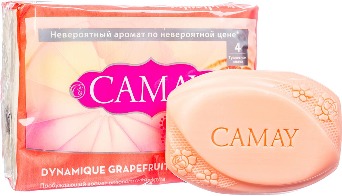 CAMAY Мыло твердое Динамик 4х75г05303541Твердое Мыло Dynamique Grapefruit (Динамик) Дарит Энергичный Аромат Розового Грейпфрута И Белых Цветов, Делая Кожу Соблазнительно Нежной И Благоухающей.