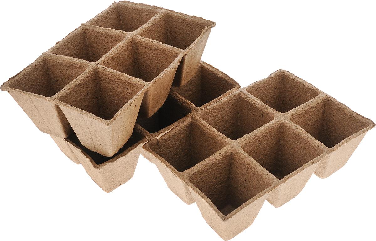 Торфяной горшочек Добрая сила, для выращивания рассады, 9 х 9 х 9,5 см, 18 штDS44140061Горшочек Добрая сила является органическим продуктом и представляет собой полую емкость, стенки которого выполнены из торфо-древесной массы с добавлением мела. Рекомендуется для лучшего прорастания накрыть горшочки стеклом или пленкой. Выращенную рассаду необходимо высаживать в грунт вместе с горшком. В комплекте 3 блока по 6 горшочков. Состав: торф верховой 70%, древесная масса 30%, мел, pH не менее 5,5. Размер горшка: 9 х 9 х 9,5 см. Размер одного блока: 29 х 20 х 9,5 см.