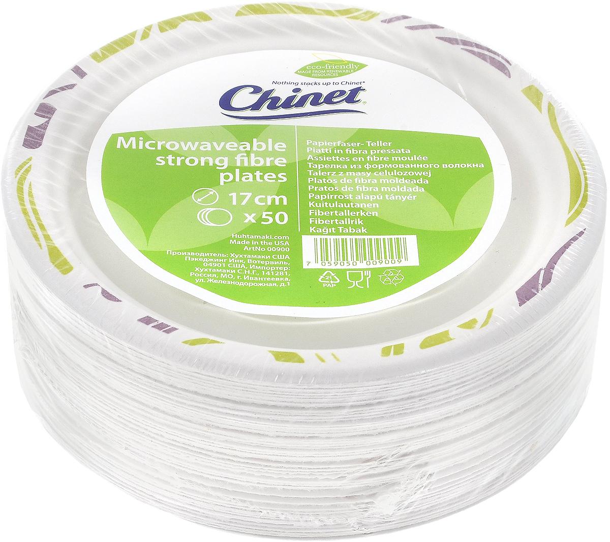 "Набор одноразовых тарелок Huhtamaki ""Chinet"", диаметр 17 см, 50 шт ПОС31575"