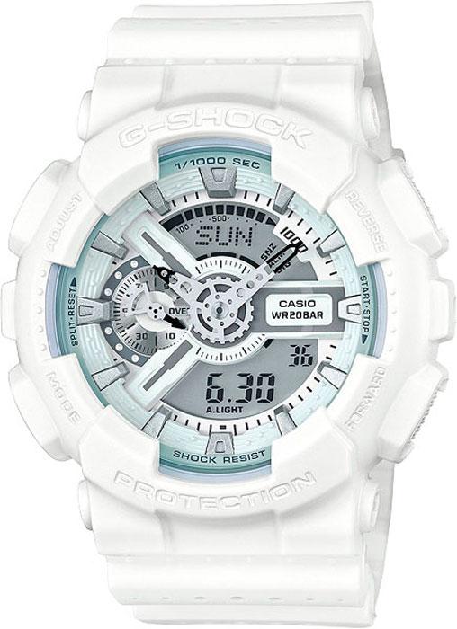 Часы наручные мужские Casio G-Shock, цвет: белый. GA-110LP-7AGA-110LP-7AКомбинированные стрелочные + электронные