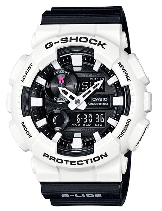 Часы наручные мужские Casio G-Shock, цвет: белый, черный. GAX-100B-1AGAX-100B-1AКомбинированные стрелочные + электронные