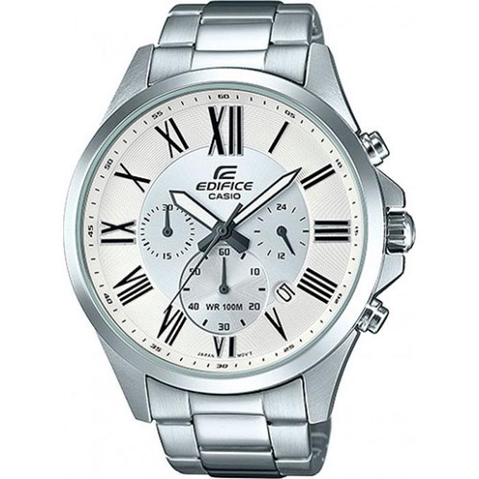 Часы наручные мужские Casio Edifice, цвет: белый, стальной. EFV-500D-7AEFV-500D-7A