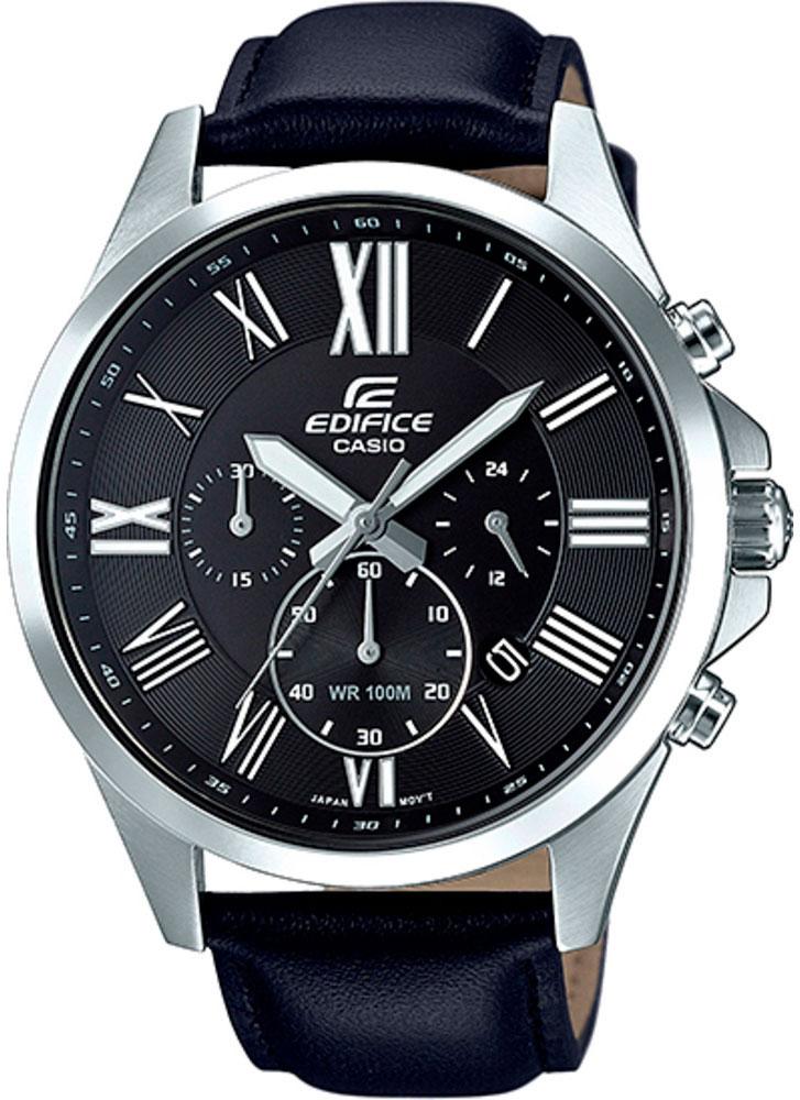 Часы наручные мужские Casio Edifice, цвет: черный. EFV-500L-1AEFV-500L-1A
