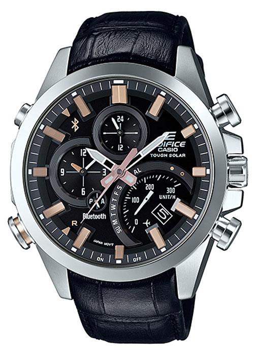 Часы наручные мужские Casio Edifice, цвет: черный. EQB-500L-1AEQB-500L-1A