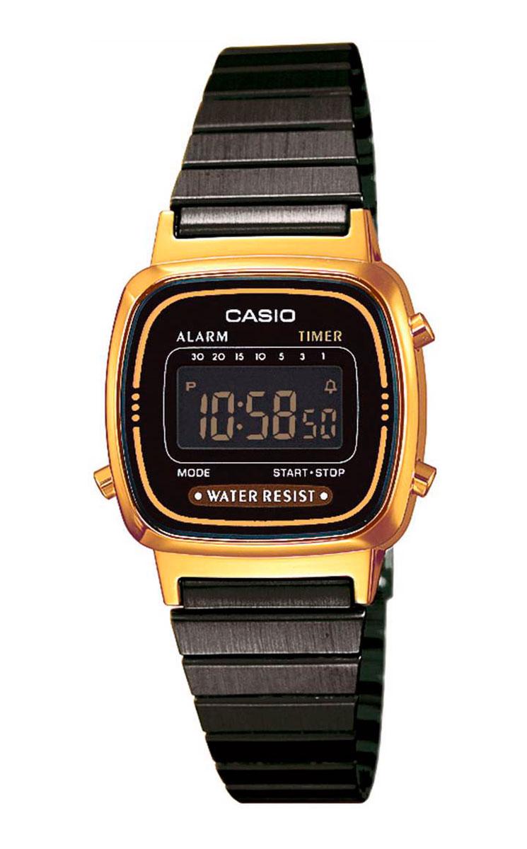 Часы наручные женские Casio Collection, цвет: золотой, черный. LA670WEGB-1BLA670WEGB-1B