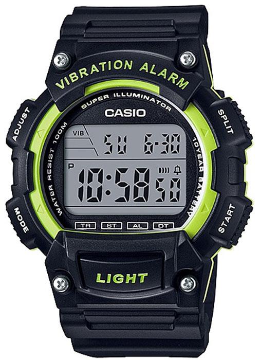 Часы наручные Casio Collection, цвет: черный, салатовый. W-736H-3AW-736H-3A