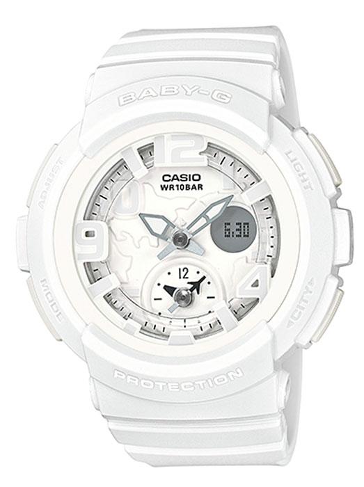 Часы наручные женские Casio Baby-G, цвет: белый. BGA-190BC-7BBGA-190BC-7BКомбинированные стрелочные + электронные