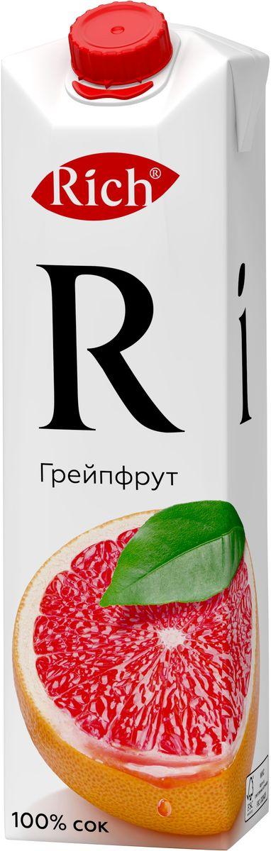 Rich Грейпфрутовый сок, 1 л754405Откройте для себя яркий и многогранный вкус грейпфрутового сока Rich: цитрусовая свежесть с небольшой горчинкой, лаконично дополненной нежной мякотью. Строгий отбор сочных и свежих фруктов, постоянный контроль производства и готовой продукции - составляющие безупречного качества соков и нектаров Rich, высокие стандарты которого всегда соблюдались с момента запуска на российском рынке. Но что действительно отличает продукцию под маркой Rich - это изысканный, многогранный вкус, рождающийся благодаря сочетанию разных сортов одного фрукта в соках и нектарах.