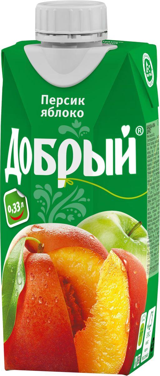 """Добрый нектар """"Персик Яблоко"""", 0,33 л 1487701"""