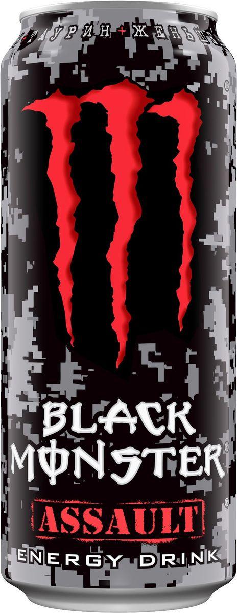 Black Monster Assault энергетический напиток, 0,5 л