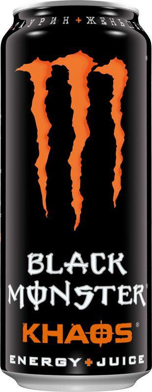 """Black Monster Khaos энергетический напиток, 0,5 л1310012Наши профессиональные спортсмены постоянно стремятся к новым высотам, поэтому, если у них возникает идея, мы тут как тут. После многомесячных экспериментов в лаборатории мы довели до завершения наш напиток """"Black Monster Khaos Energy + Juice"""" Мы стартовали с нашей ори смеси Black Monster, добавили мощную комбинацию соков , усилили полным зарядом нашей энергии и стали ждать. Он ожил… Black Monster Khaos – безумный Juice Monster, искрящийся потрясающим вкусом Black Monster в сочетании с магией кайфа, который ты знаешь и любишь! 30% cока – 100% Black Monster!"""