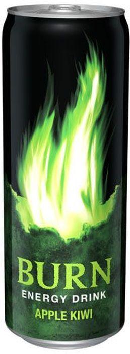 Burn Apple Kiwi энергетический напиток, 0,33 л1588501Burn - это источник энергии для активной жизни 24/7. В состав Burn входит три важных компонента - кофеин, таурин и гуарана, которые помогают снизить усталость, поддерживают работоспособность и концентрацию внимания. Burn эенергетический напиток, который позволяет постоянно находиться в движении, все успевать, быть в курсе самых жарких событий, творить, выдумывать, пробовать. Это энергия в новом формате в любое время от рассвета до рассвета!