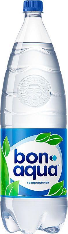 BonAqua Bon Aqua Вода чистая питьевая газированная, 2 л 60105