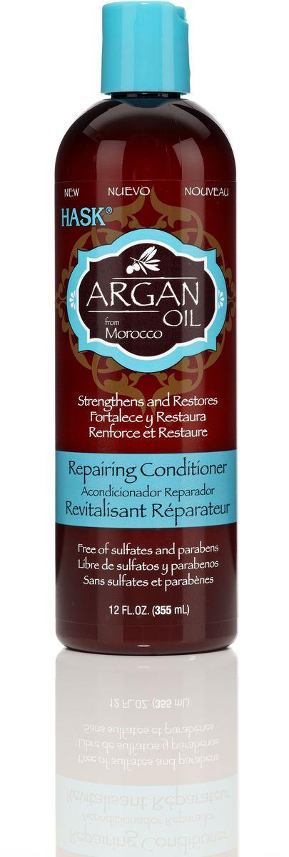 HASK Восстанавливающий кондиционер для волос с Аргановым маслом, 355 мл34326AВосстанавливающий кондиционер для волос с Аргановым маслом проникает в структуру волоса и восстанавливает его изнутри. Даже самые поврежденные волосы становятся мягкими и увлажненными. Кондиционер идеально подходит для восстановления сухих, поврежденных волос.
