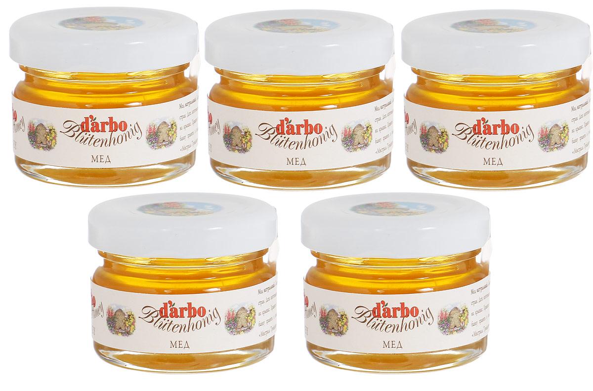 Darbo мед, 5 шт по 28 г24407Мед Darbo - это смесь сортов меда ЕС и других стран. Польза цветочного меда официально подтверждена научными исследованиями: доказано, что он является великолепным средством при лечении простудных заболеваний и бессонницы. Этот вид меда способен быстро восстанавливать силы, поэтому он полезен людям, которые перенесли сложные заболевания. Его успокоительные свойства используются при лечении психических расстройств. Также мед советуют употреблять в пищу при заболеваниях пищеварительной и дыхательной систем, сердечно-сосудистой недостаточности и анемии. Подходит для поездок благодаря удобной банке с закручивающейся крышкой.