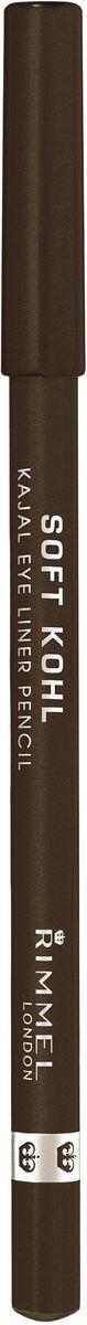 Rimmel Контурный карандаш для глаз Soft Kohl Kajal, тон № 011, 1,2 г34007210011Необычайно мягкий и одновременно стойкий Легко наносится и растушевывается, для естественного результата Нежный кремовый состав позволяет подчеркнуть внутреннее веко