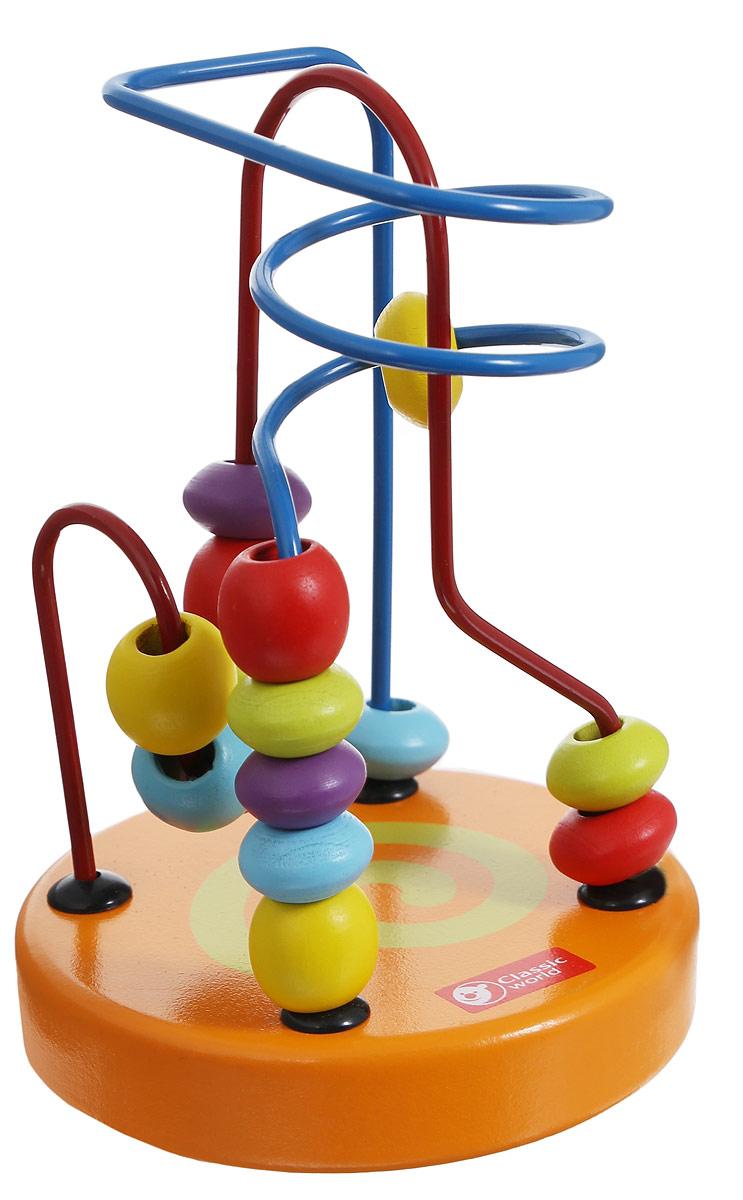 Classic World Сортер-лабиринт Бусины и горки цвет оранжевый3647_оранжевыйРазнообразные бусинки познакомят ребенка в простой и занятной игровой форме с базовыми цветами. Игра прекрасно способствует развитию логики, мышления и мелкой моторики. Игрушка удобна тем, что ее можно брать в дорогу. Сортер-лабиринт Classic World Бусины и горки выполнен из высококачественных материалов, вы будете уверены в безопасности вашего ребенка.