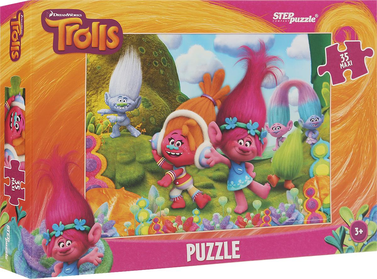 Step Puzzle Пазл для малышей Trolls 9122291222Пазл для малышей Step Puzzle Trolls создан по мотивам мультфильма о веселых Троллях (DreamWorks). Это наилучшее решение для развития вашего ребенка. Пазл включает в себя 35 элементов, собрав которые, вы получите картинку с изображением сюжета из мультфильма. Собирание пазла развивает у ребенка мелкую моторику рук, тренирует наблюдательность, логическое мышление, знакомит с окружающим миром, с цветами и разнообразными формами, учит усидчивости и терпению, аккуратности и вниманию.