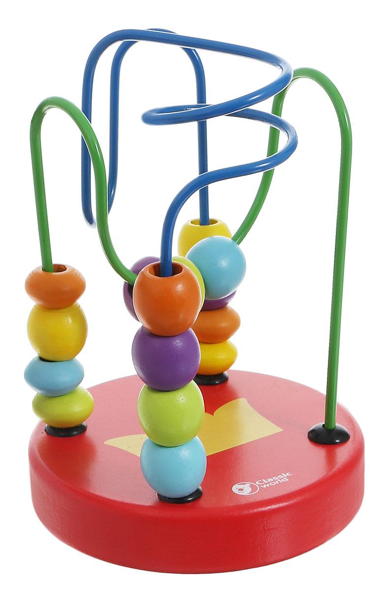 Classic World Сортер-лабиринт Бусины и горки цвет красный3647_красныйРазнообразные бусинки познакомят ребенка в простой и занятной игровой форме с базовыми цветами. Игра прекрасно способствует развитию логики, мышления и мелкой моторики. Игрушка удобна тем, что ее можно брать в дорогу. Сортер-лабиринт Classic World Бусины и горки выполнен из высококачественных материалов, вы будете уверены в безопасности вашего ребенка.