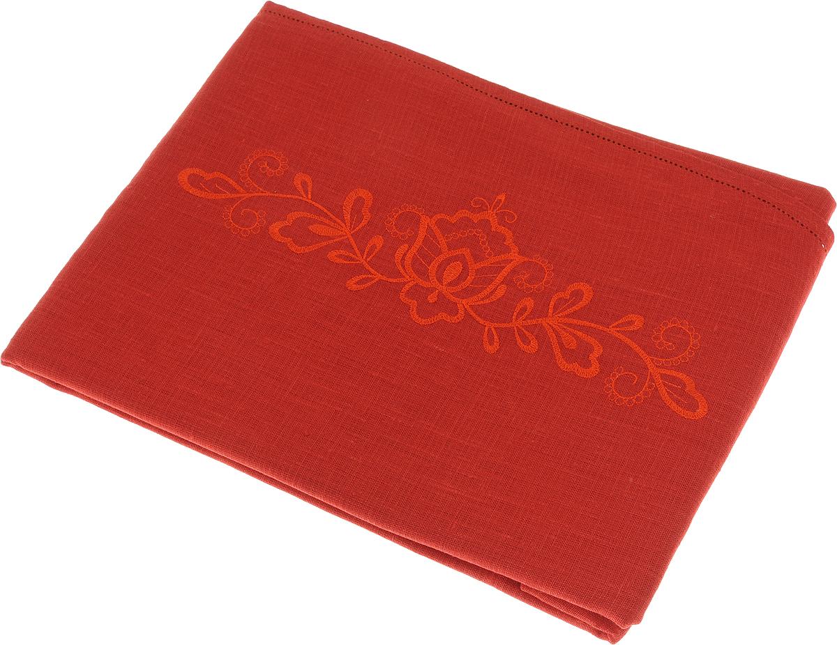 Скатерть Гаврилов-Ямский Лен, овальная, цвет: красный, терракотовый, 150 x 180 см. 10со612810со6128-1_терракотовыйСкатерть Гаврилов-Ямский Лен, выполненная из натурального льна, является отличным украшением любого стола. Лён - поистине, уникальный экологически чистый материал. Изделия из льна обладают уникальными потребительскими свойствами. Такая скатерть порадует вас невероятно долгим сроком службы. Скатерть Гаврилов-Ямский Лен создаст уют и тепло в вашем доме.