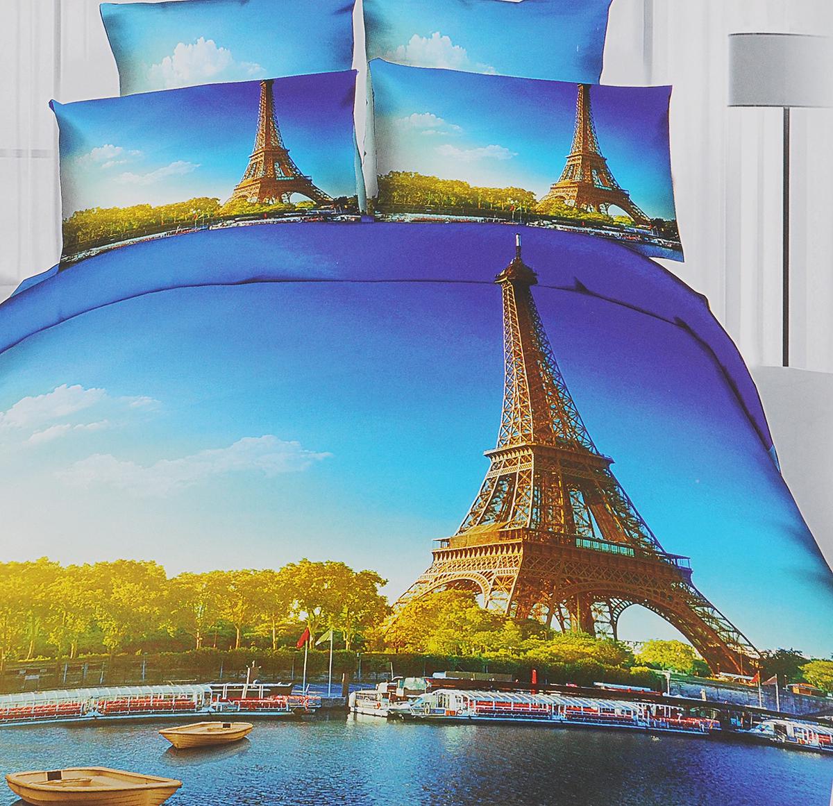 Комплект белья Mango Париж, 2-спальный, наволочки 50х70M-701-175-180-50Комплект постельного белья Mango Париж, изготовленный из сатина (100% хлопок), поможет вам расслабиться и подарит спокойный сон. Комплект состоит из пододеяльника, простыни и двух наволочек на молнии. Предметы комплекта оформлены 3D рисунком. Постельное белье имеет изысканный внешний вид и обладает яркими, сочными цветами. Благодаря такому комплекту постельного белья вы сможете создать атмосферу уюта и комфорта в вашей спальне. Сатин - производится из высших сортов хлопка, а своим блеском, легкостью и на ощупь напоминает шелк. Такая ткань рассчитана на 200 стирок и более. Постельное белье из сатина превращает жаркие летние ночи в прохладные и освежающие, а холодные зимние - в теплые и согревающие. Благодаря натуральному хлопку, комплект постельного белья из сатина приобретает способность пропускать воздух, давая возможность телу дышать. Одно из преимуществ материала в том, что он практически не мнется и ваша спальня всегда будет ...