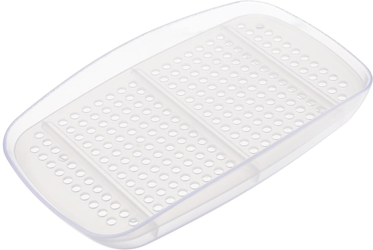 Подставка для губки Tescoma Clean Kit, цвет: прозрачный, 18 х 15 х 2,5 см900620_прозрачныйПодставка Tescoma Clean Kit выполнена из первоклассного стойкого пластика и и прекрасно подходит для хранения губки, проволочной мочалки, моющего средства. Изделие оснащено перфорированным вкладышем для быстрой сушки и удобной очистки. Можно мыть в посудомоечной машине.