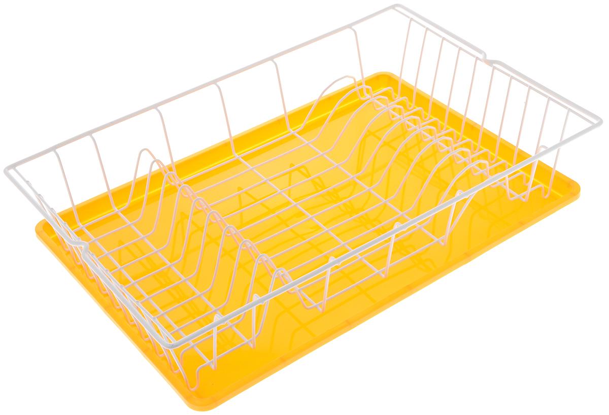 Сушилка для посуды Metaltex Germatex, с подоном, цвет: желтый, 48 х 30 х 10 см32.01.45/94-528_желтыйСушилка Metaltex Germatex, изготовленная из крашенной стали стали, представляет собой решетку с ячейками для посуды и пластиковый поддоном. Сушилка не займет много места на вашей кухне. Вы сможете разместить на ней большое количество предметов. Компактные размеры и оригинальный дизайн выделяют эту сушилку из ряда подобных. Размер сушилки: 48 х 30 х 10 см.