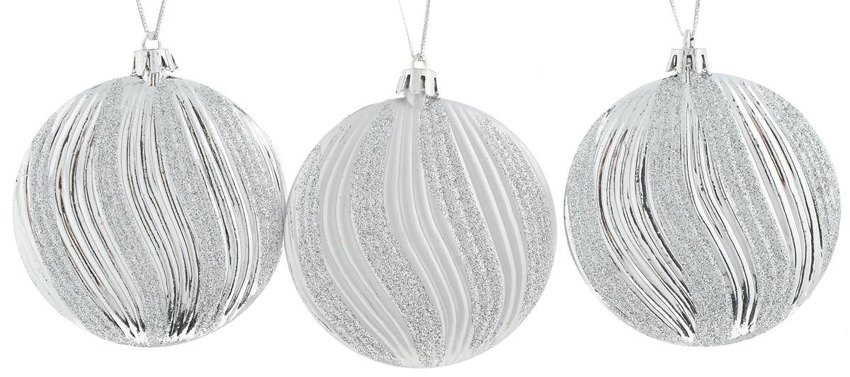 Набор новогодних подвесных украшений House & Holder Шары, цвет: серебристый, диаметр 7,5 см, 3 штDP-C30-066_серебристыйНабор подвесных украшений House & Holder Шары прекрасно подойдет для праздничного декора новогодней ели. Набор состоит из 3 пластиковых украшений. Для удобного размещения на елке для каждого украшения предусмотрена петелька. Елочная игрушка - символ Нового года. Она несет в себе волшебство и красоту праздника. Создайте в своем доме атмосферу веселья и радости, украшая новогоднюю елку нарядными игрушками, которые будут из года в год накапливать теплоту воспоминаний. Откройте для себя удивительный мир сказок и грез. Почувствуйте волшебные минуты ожидания праздника, создайте новогоднее настроение вашим дорогим и близким.