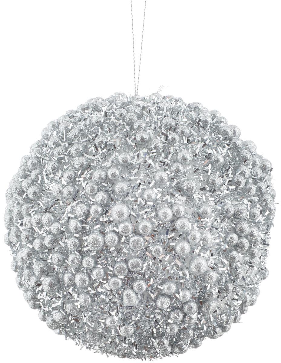Украшение новогоднее подвесное Lovemark Шар. Жемчужный, цвет: серебристый, диаметр 10 смWT13008SНовогоднее подвесное украшение Lovemark Шар. Жемчужный выполнено из пластика. С помощью специальной петельки украшение можно повесить в любом понравившемся вам месте. Но, конечно, удачнее всего оно будет смотреться на праздничной елке. Елочная игрушка - символ Нового года. Она несет в себе волшебство и красоту праздника. Создайте в своем доме атмосферу веселья и радости, украшая новогоднюю елку нарядными игрушками, которые будут из года в год накапливать теплоту воспоминаний.