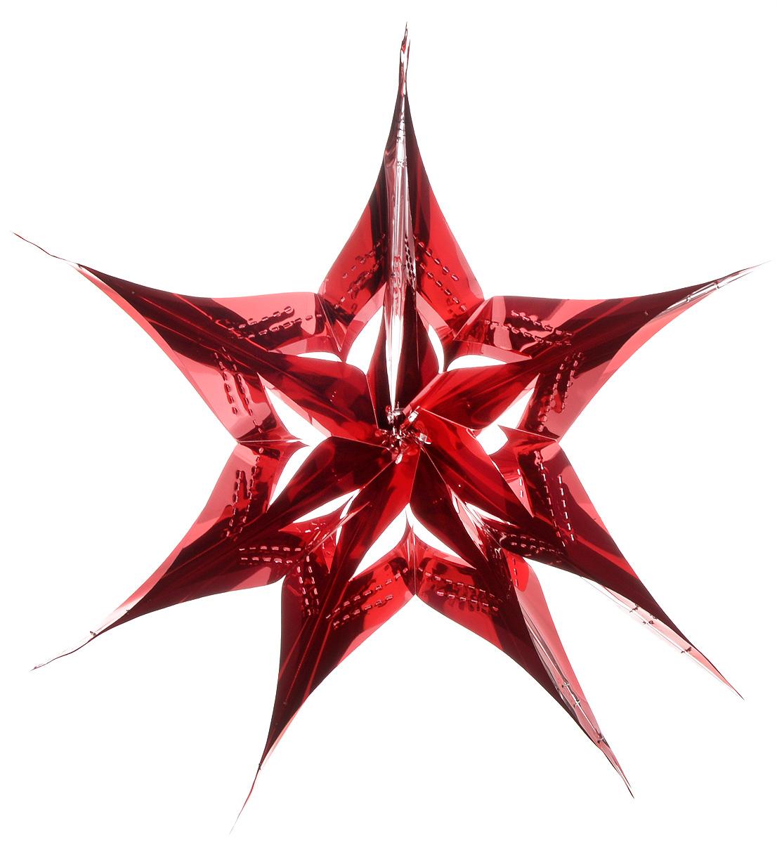 Украшение новогоднее подвесное Winter Wings Звезда, цвет: красный, диаметр 30 смN09174_красныйНовогоднее украшение Winter Wings Звезда прекрасно подойдет для декора дома и праздничной елки. Изделие выполнено из ПВХ. С помощью специальной петельки украшение можно повесить в любом понравившемся вам месте. Легко складывается и раскладывается. Новогодние украшения несут в себе волшебство и красоту праздника. Они помогут вам украсить дом к предстоящим праздникам и оживить интерьер по вашему вкусу. Создайте в доме атмосферу тепла, веселья и радости, украшая его всей семьей.